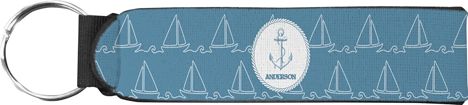 Rope Sail Boats Keychain Fob (Personalized)