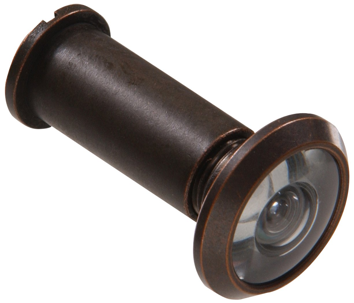 The Hillman Group The Hillman Group 852723 200 Degree Door Viewer - Solid Brass - Antique Bronze Finish 1-Pack