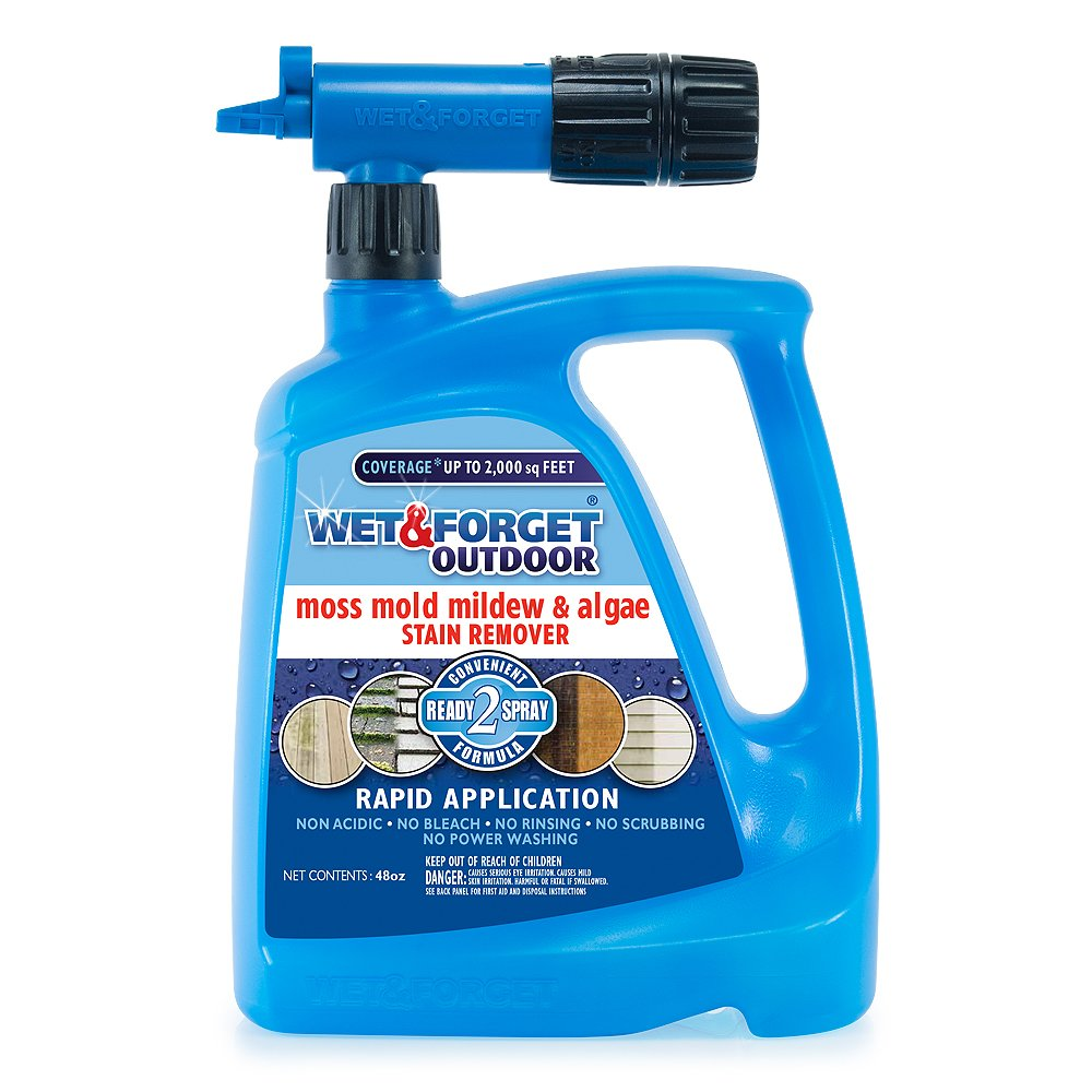 Wet & Forget Moss, Mold, Mildew and Algae Stain Remover Hose End, 48 oz.