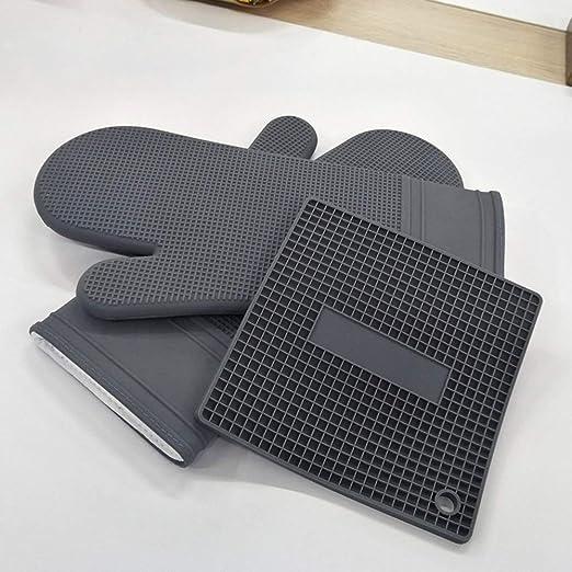 Resistente a altas temperaturas 2 pares de guantes de horno de ...
