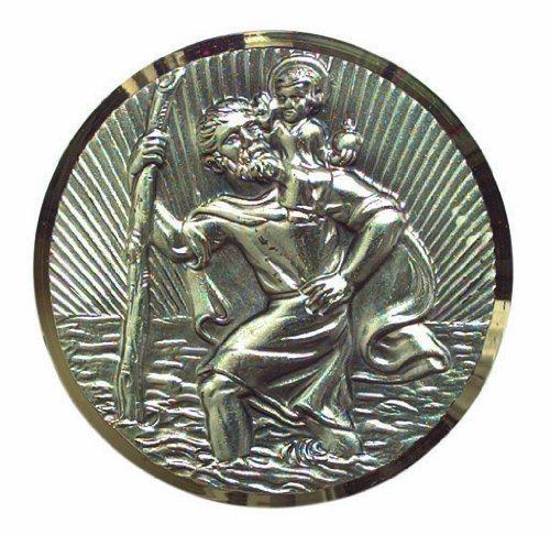 Cartrend 60152 St. Christophorus Plakette, feinversilbert mit Filigran-Diamantschliff