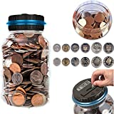 Money Saving Bank ONEVER Digital Coin Counting Bank Automatic Coin Counter Jar With