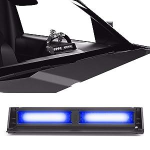 Striker TIR 2 Head LED Dash Light for Emergency Vehicles/Warning Strobe Deck/Dash Light Windshield Mount - Blue/Blue