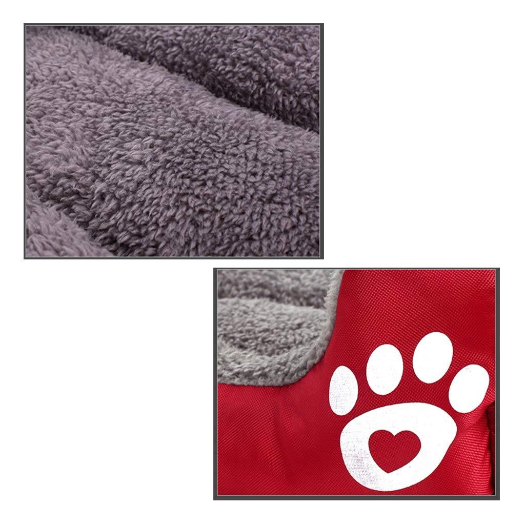 QHD Cuccia Invernale, Invernale, Invernale, cucciolata per Gatti, Gatto Caldo, fornisce Cani di Piccola e Media Cuccia Teddy Resistente al morso Canile (colore   arancia, Dimensioni   60  80cm) f9a3b4