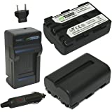 Wasabi Power Battery (2-Pack) and Charger for Sony NP-FM500H and Sony CLM-V55, Alpha DSLR SLT-A57, A58, A65, A65V, A77, A77V,