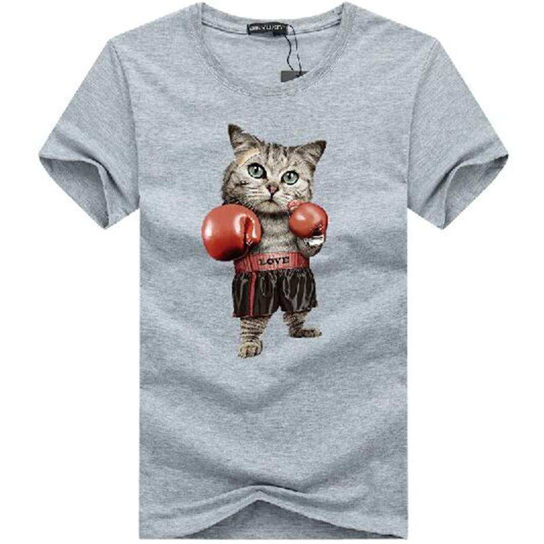 Yunsweyle Men Fashion 3D Print Summer Plus Size T Shirts