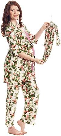 934 MUMS CHOICE Maternity Nightdress Pregnancy Nursing Gown Hospital L Grey
