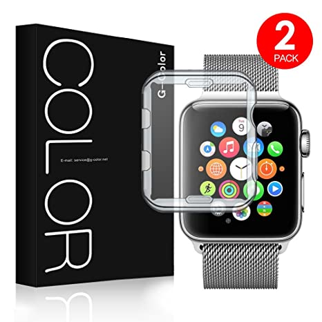G-Color Apple Watch 38mm Funda/Protector de Pantalla,[2 Unidades]