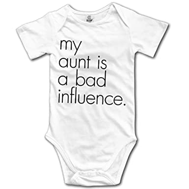 5815e6963 Organic Baby Onesies Unisex Bodysuits Baby My Aunt is A Bad Influence
