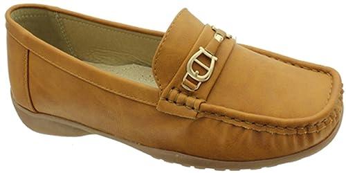 85667704f62 Pierre Dumas Women s Hazel 21 Moccasin Loafer Flat Shoes Tan 81230 120 ...
