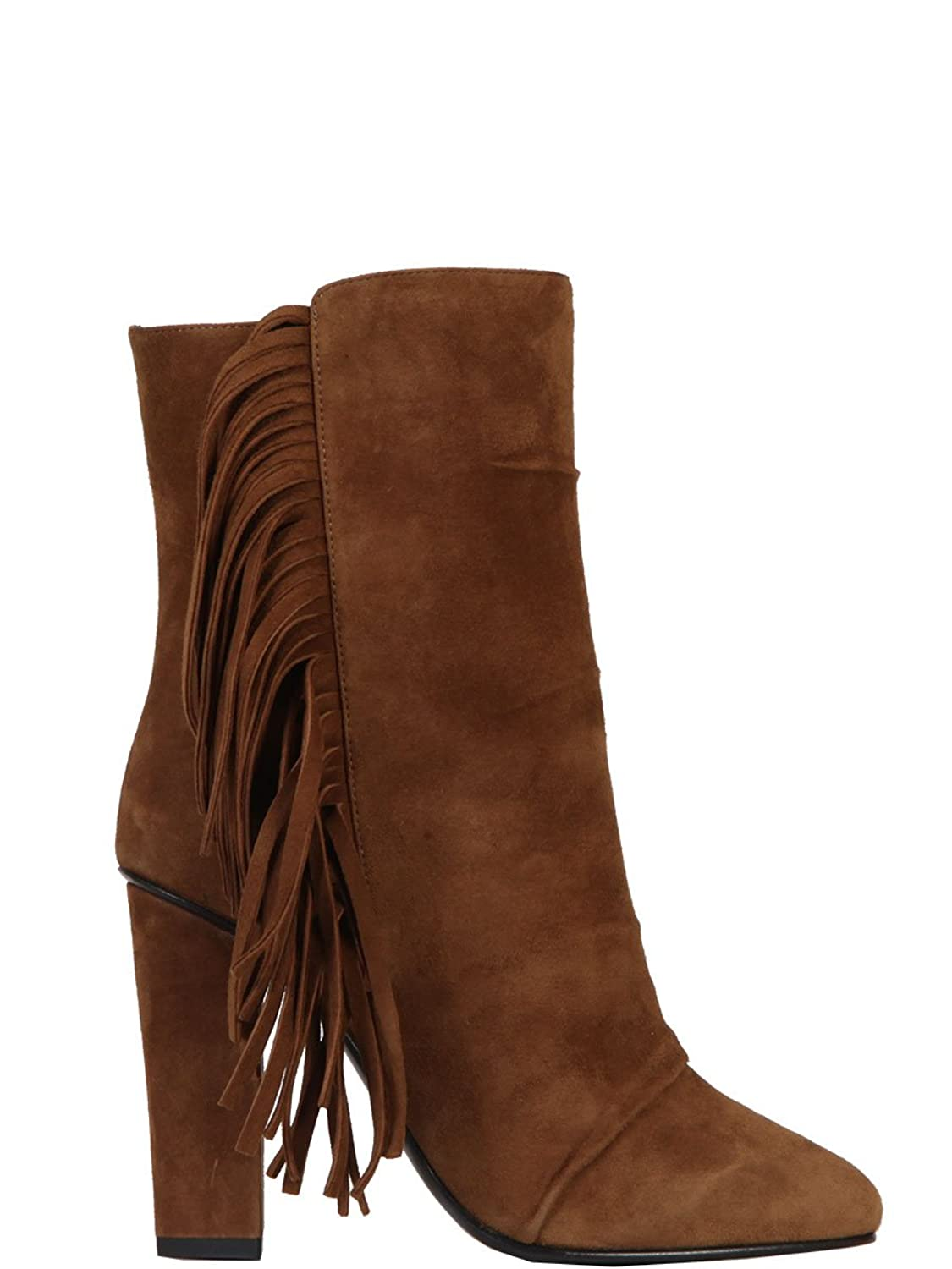 GIUSEPPE ZANOTTI WOMEN'S 5708561465 BROWN SUEDE ANKLE BOOTS