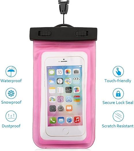 JALL Funda Impermeable MóVil - 5.5 Pulgadas Waterproof Case Universal Caja del TeléFono Estuche Estanco Al Agua Duradero – Haoxuan (Rosa): Amazon.es: Deportes y aire libre
