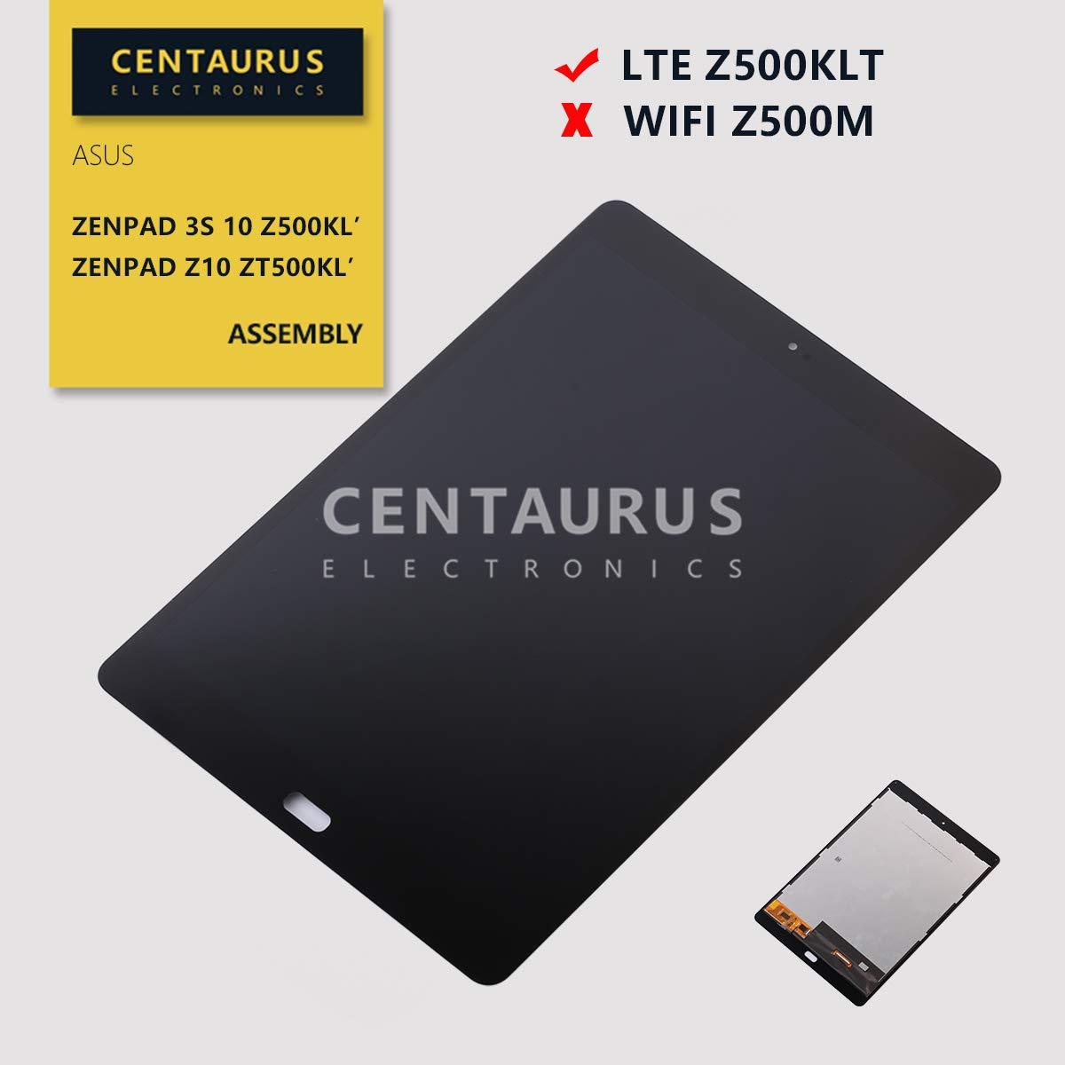 CENTAURUS Assembly Fit Asus Z500KL, Replacement LCD Display Touch Screen Digitizer Compatible Asus ZenPad 3S 10 LTE Z500KL P001 / ZenPad Z10 ZT500KL 9.7 inch (Black)