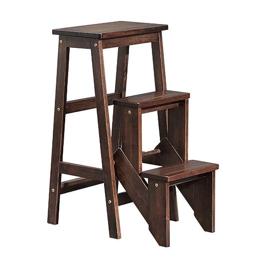 Chairs Taburete del Paso de la Madera sólida de 3 Capas para ...