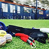 VeloPRO Baseball and Softball Movement Enhancement Training System including Belt / Harness, Foot/Ankle Strap, 2 Bungee Cords. Enhance Hitting, Pitching, & Throwing