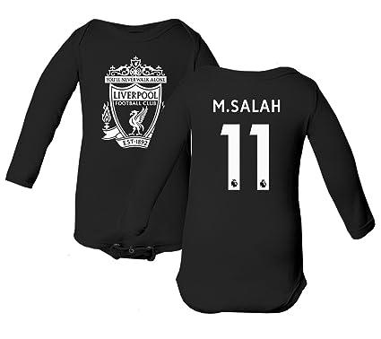 68527a04f64 Tcamp Liverpool  11 Mohamed SALAH Premier League Little Infant Baby Long  Sleeve Bodysuit (Black