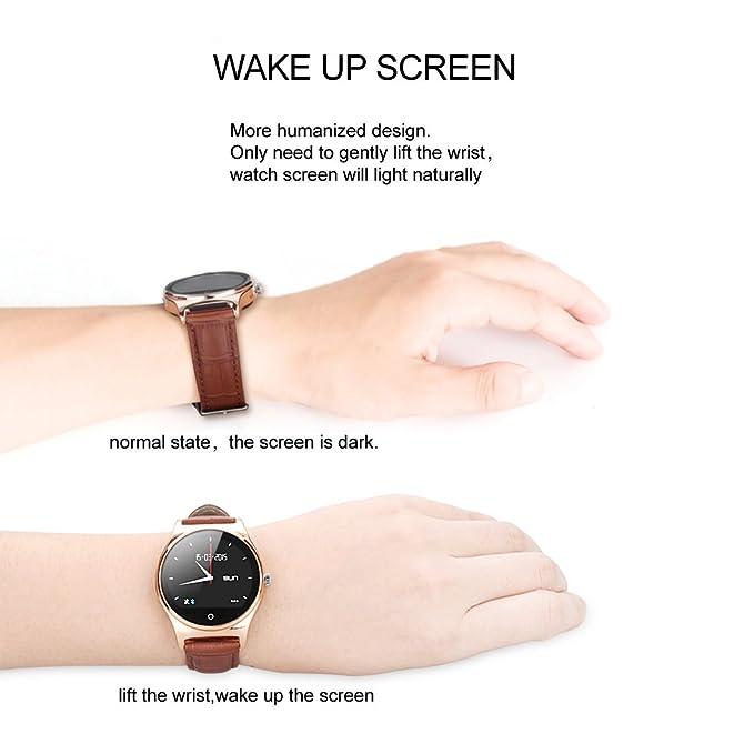 RWATCH R11 - Smartwatch Bluetooth Reloj Inteligente (Sincronización de llamadas, SMS, Música, Podómetro, Monitor del sueño) para Smartphone Móviles de ...