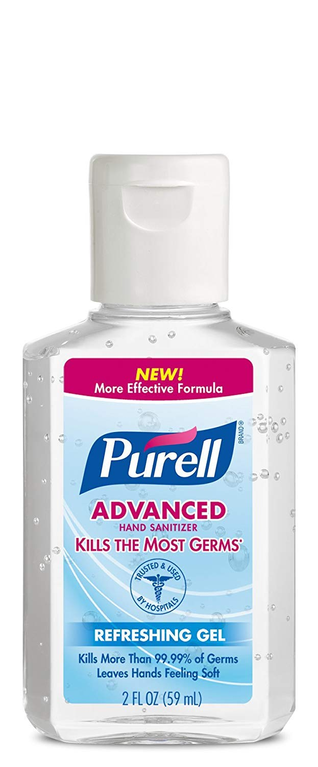 Purell Instant Hand Sanitizer, 2 Ounce (Pack of 6)