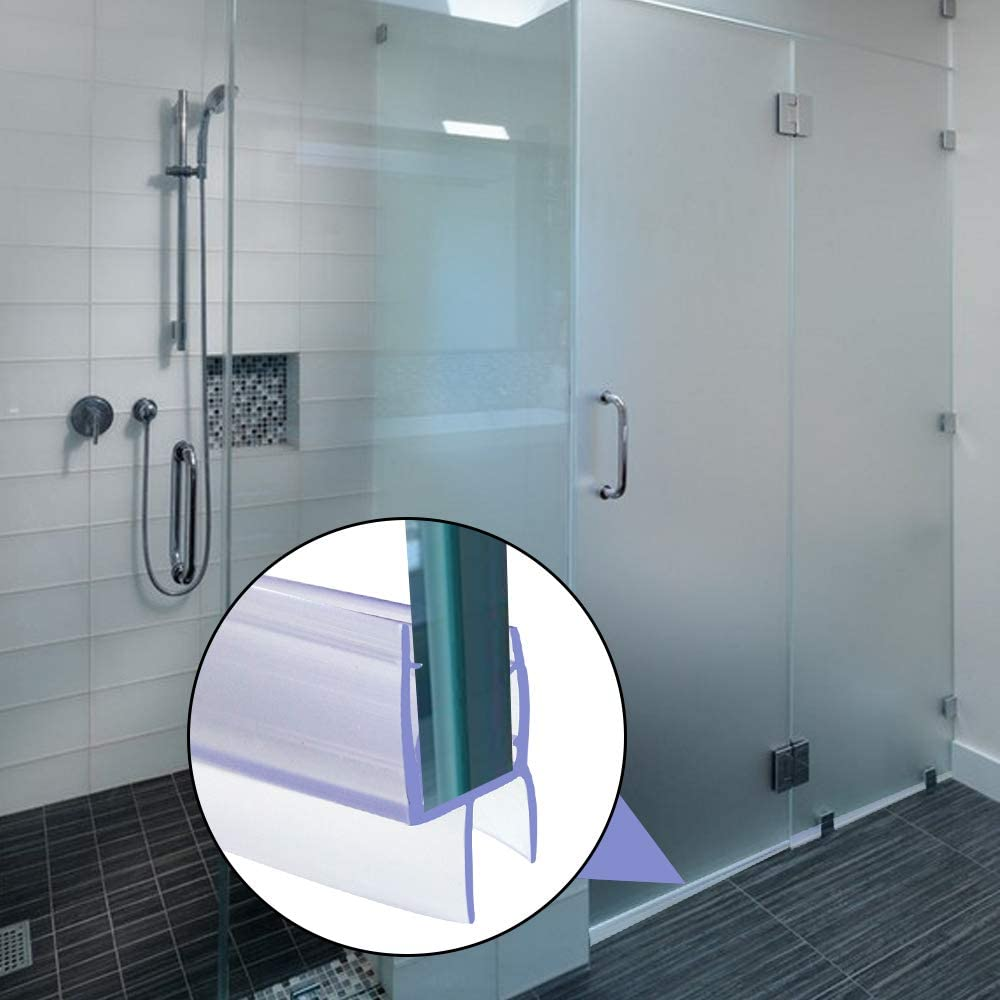 Junta de goma para mampara de ducha de 6-8 mm, junta inferior de vidrio curvado recto para puerta de baño o ducha: Amazon.es: Bricolaje y herramientas