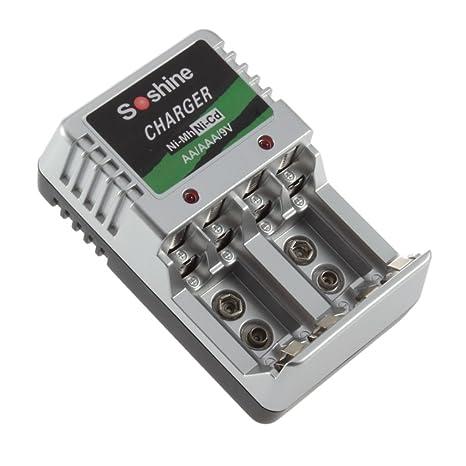 Cargador de batería Recargable de tamaño portátil AA AAA 9 V ...