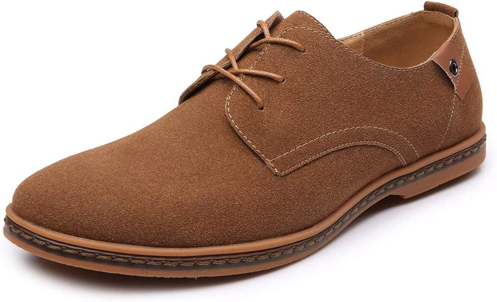 VonVonCo Mens Fashion Casual Lace Up Oxfords Leather Shoes Male Business Shoes