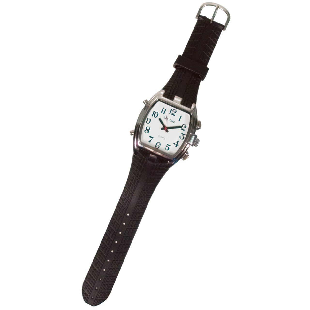 Tel-Time Mens Low Vision Talking Watch- White Face by MaxiAids