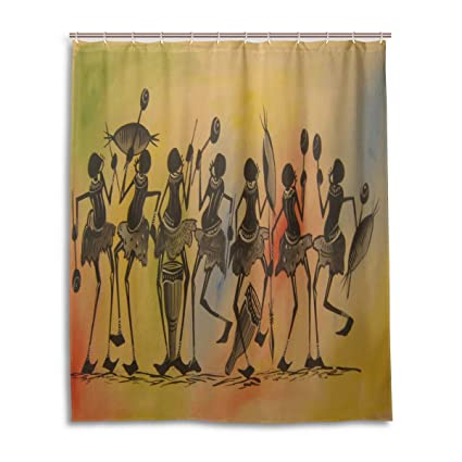 Amazon WBKCQB Unisex African Dance Shower Curtain Waterproof