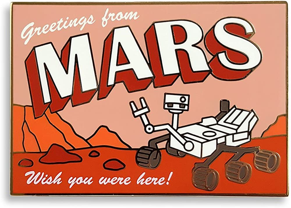 Pinsanity Mars Rover Postcard Enamel Lapel Pin