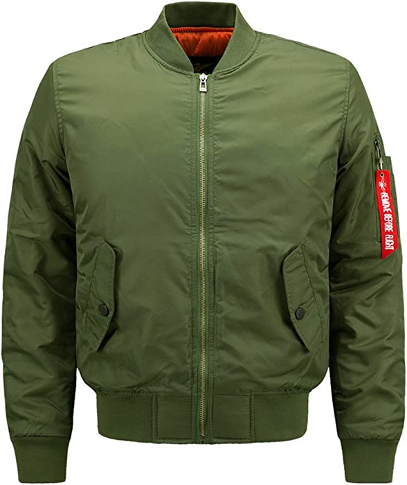 9079d9f427c1e Ma1 Men Military Style Padded Pilot Bomber Air Force Army Tactical Jacket  Plus Size Casual Warm