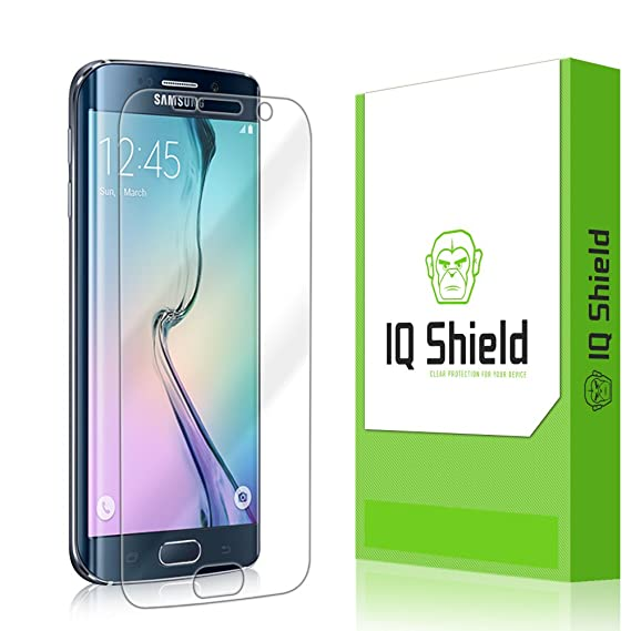 huge discount 946f9 bc9bb Galaxy S6 Edge Screen Protector, IQ Shield LiQuidSkin Full Coverage Screen  Protector for Galaxy S6 Edge HD Clear Anti-Bubble Film - with