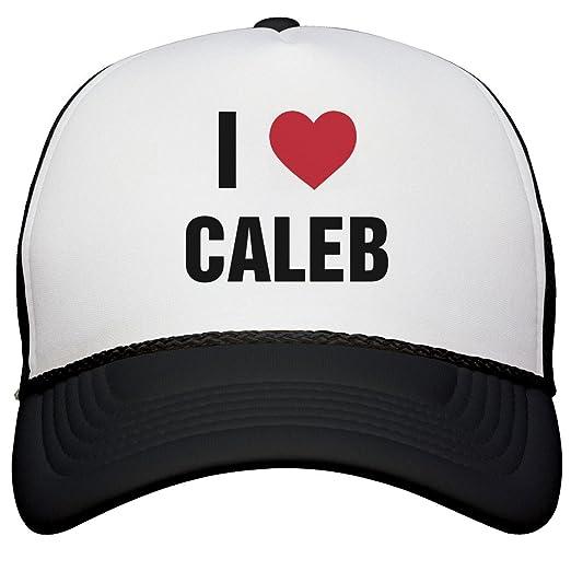 3a47c9750b1 Amazon.com  I Love Caleb Matching Hats  Snapback Trucker Hat  Clothing