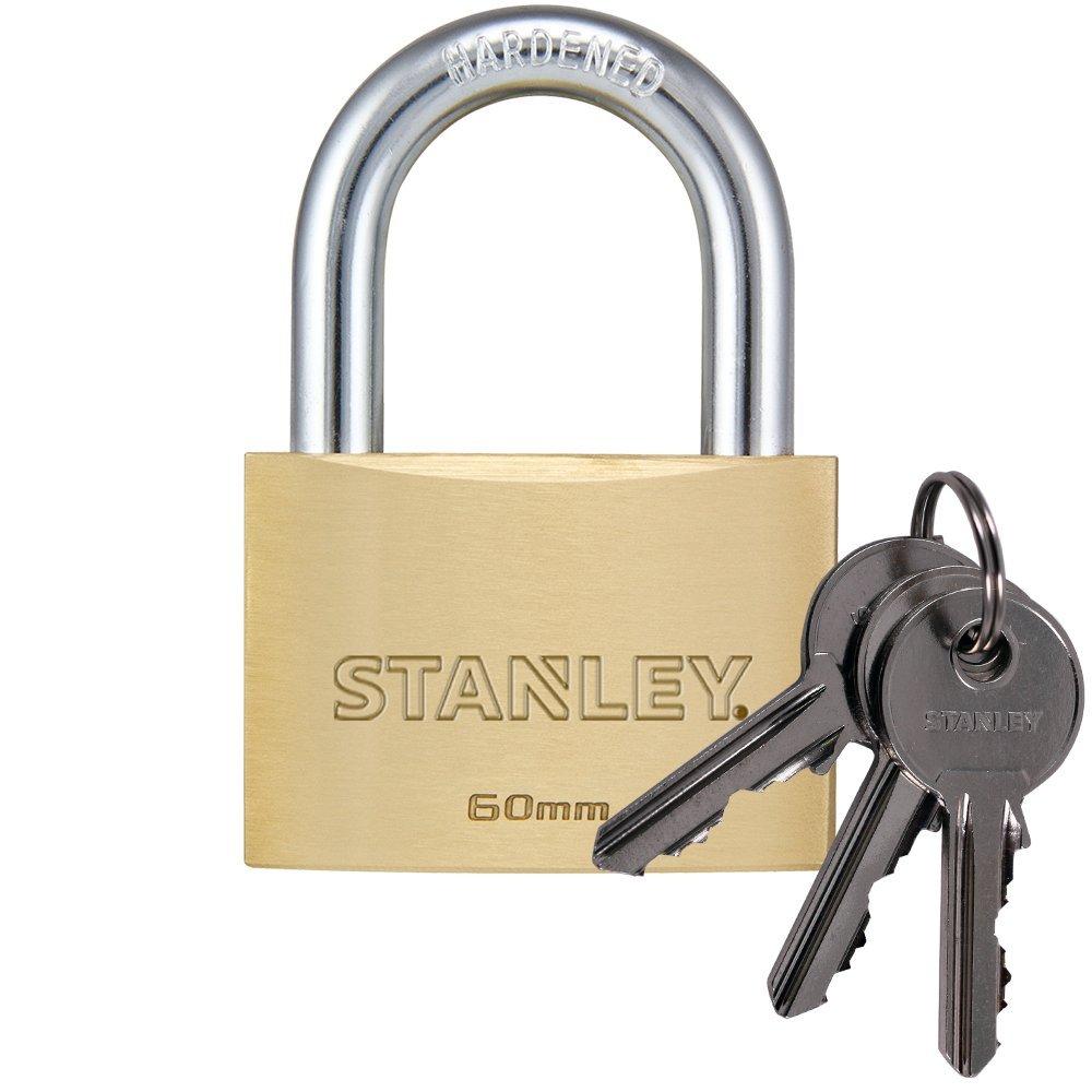 Stanley S742-028 Candado macizo de con arco est/ándar 3 llaves 1 unidad 20 mm