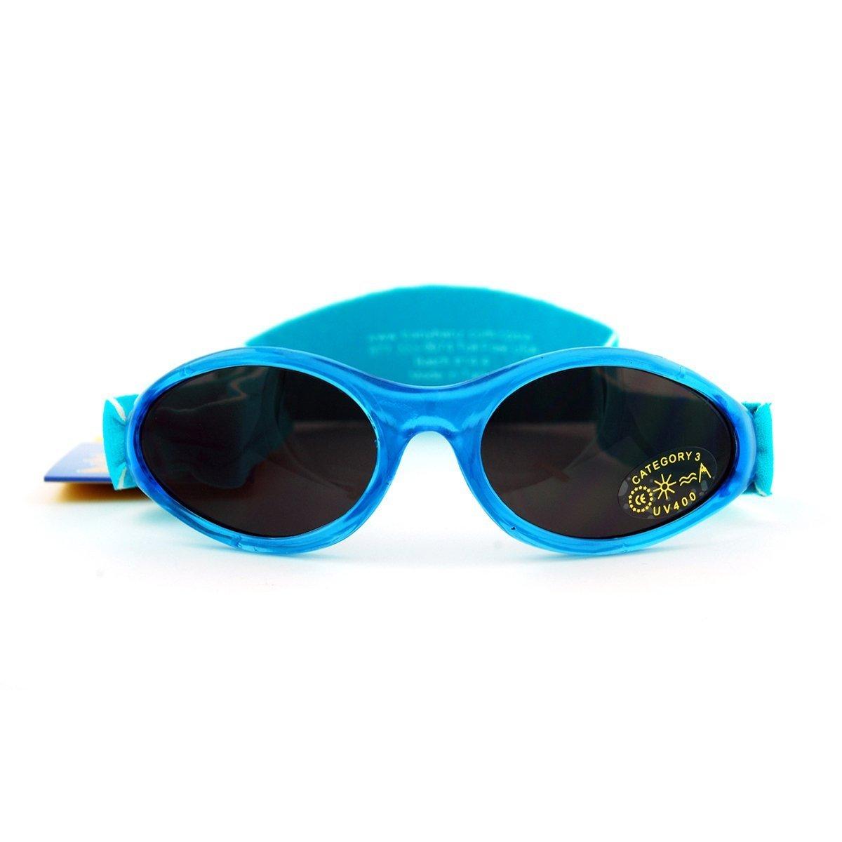 BabyBanz & kidsbanz–Occhiali da sole Bambino/Bambino–Confortevoli e U6–Protezione UV 100% Caribbean Blue)