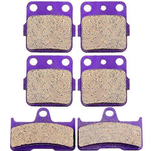 Grizzly Front (Kevlar Carbon Fiber Brake Pads ECCPP Motorcycle Replacement Front and Rear Braking Pads Kits Set for 2003-2008 Yamaha YFM 660 Grizzly Hunter)