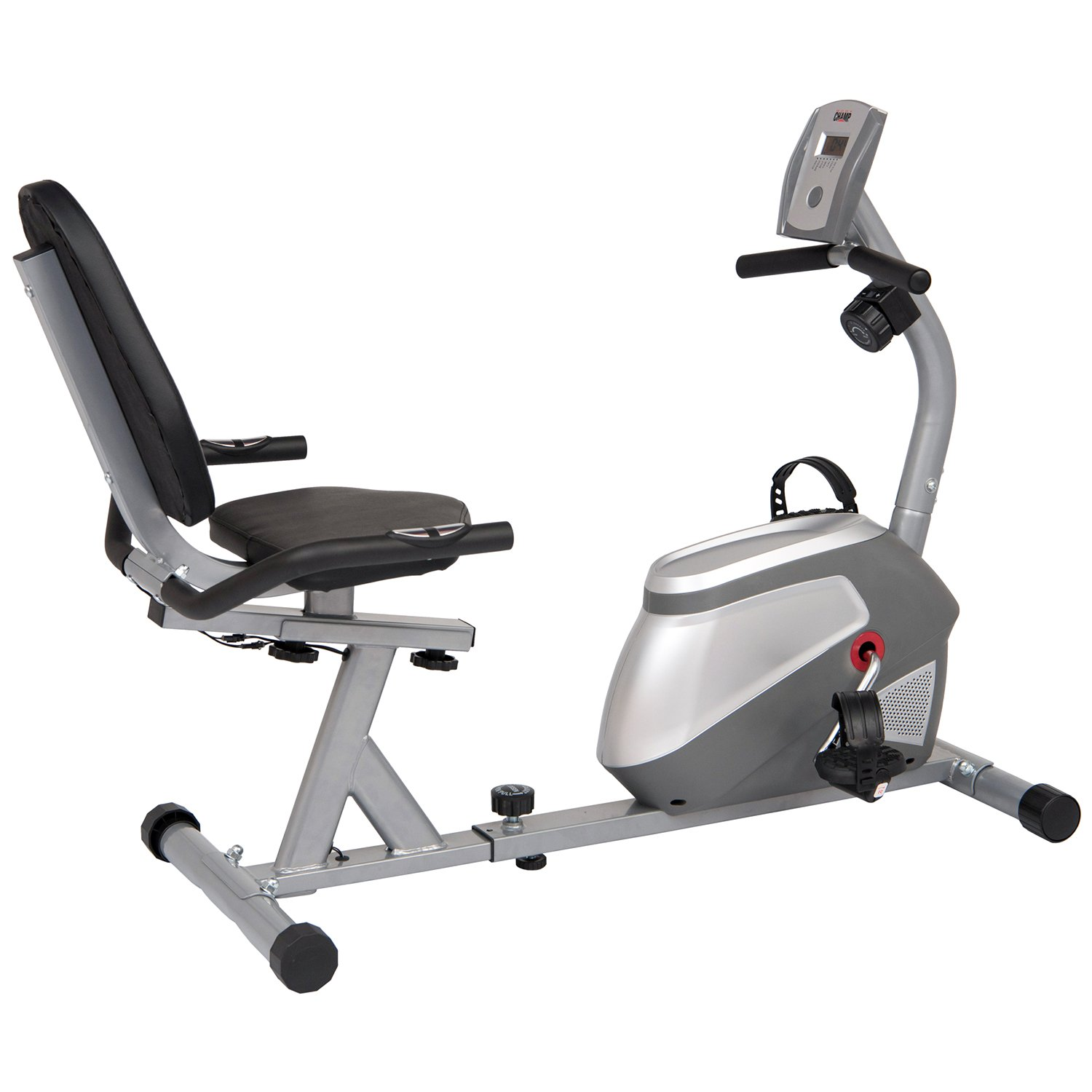 Body Champ BRB852 Magnetic Recumbent Exercise Bike User Friendly, Black/Silver, One Size