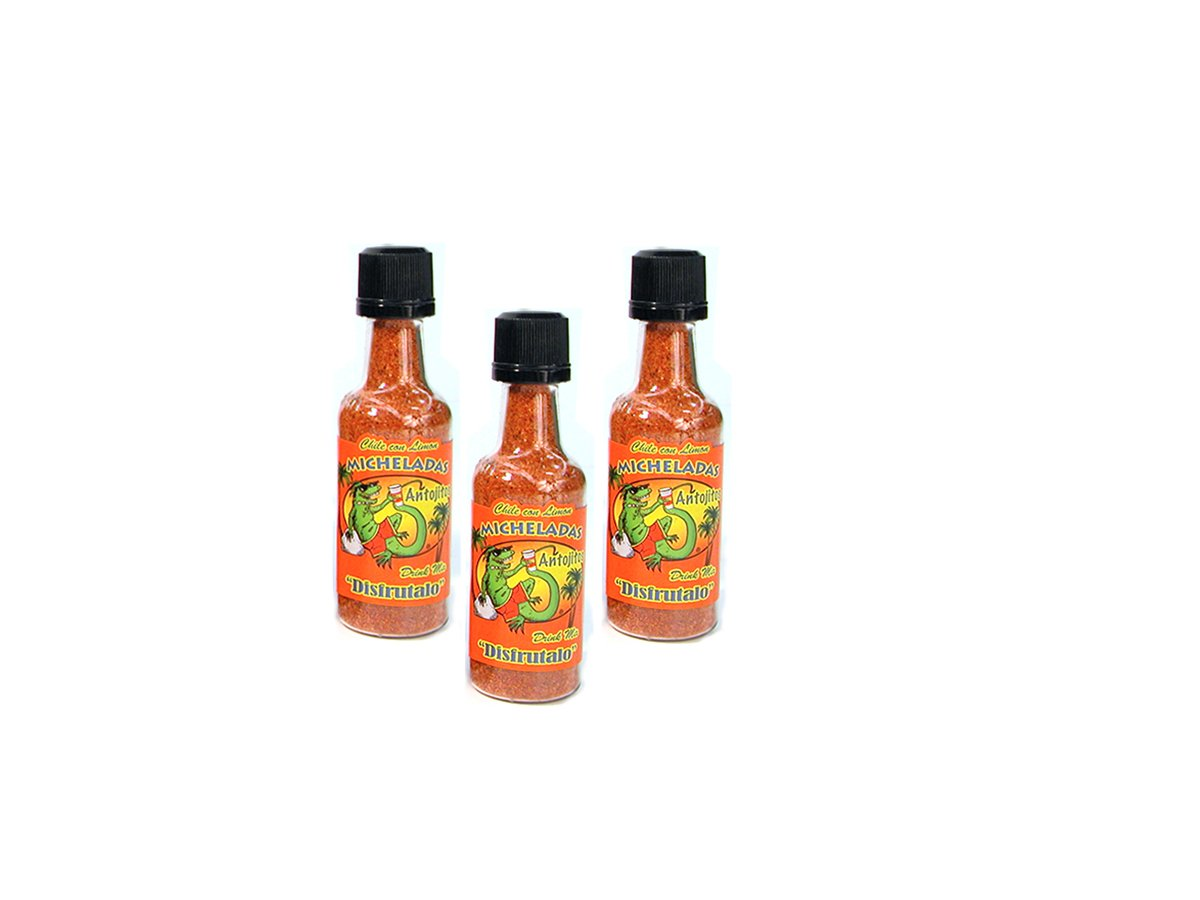 3-Pack of Michelada Antojitos Michelada Shaker for Beer, Bloody Mary and Fruit Seasoning 1.5 oz
