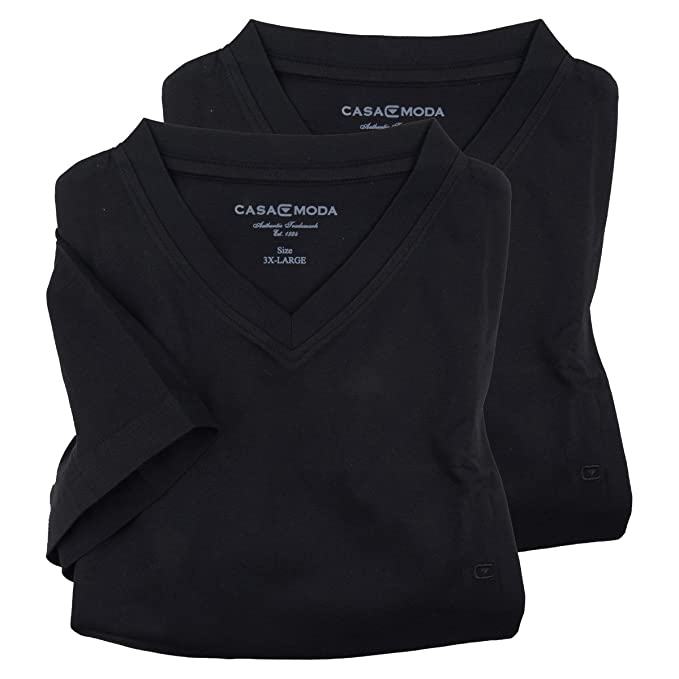 Casa Moda XXL Camisetas Negras - Paquete de Dos: Amazon.es: Ropa y accesorios