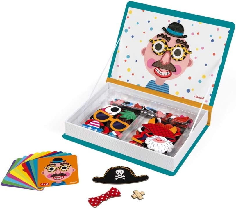 Janod - MagnetiBook Crazy Faces juguete educativo, Niños (J02716): Amazon.es: Juguetes y juegos