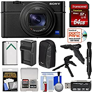 Sony Cyber-Shot DSC-RX100 VI 4K Wi-Fi Digital Camera with 64GB Card + Battery & Charger + Case + Shooting Grip & Tripod + Kit