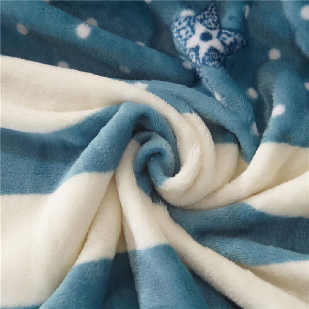 Multi-Size TLTLTZ Decken Vier Jahreszeiten Verfügbar Flanelldecken Multifunktionales Freizeit-Nickerchen Klimaanlage Dünne Decke Farbe : A, größe : 150 × 200cm