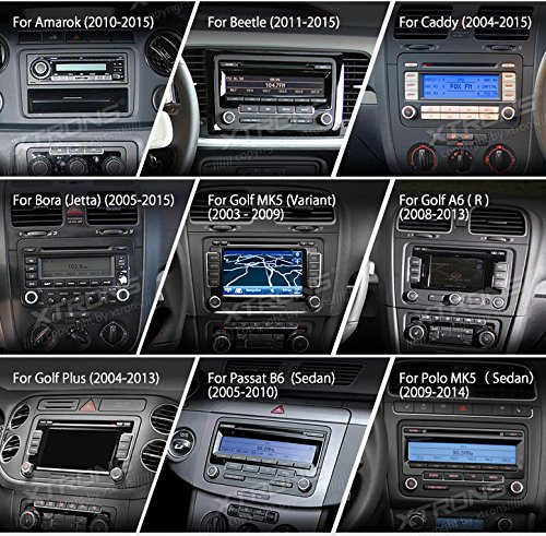XTRONS Android 6.0 Octa-Core 9 Inch Capacitive Touch Screen Car Stereo Radio DVD Player Screen Mirroring Function OBD2 Tire Pressure Monitoring for VW Caddy Golf 2003-2013 Reversing Camera Included by XTRONS (Image #2)