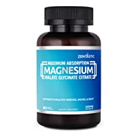 Zentastic Triple Magnesium - 300mg - Magnesium Glycinate, Malate, Citrate for Improved...
