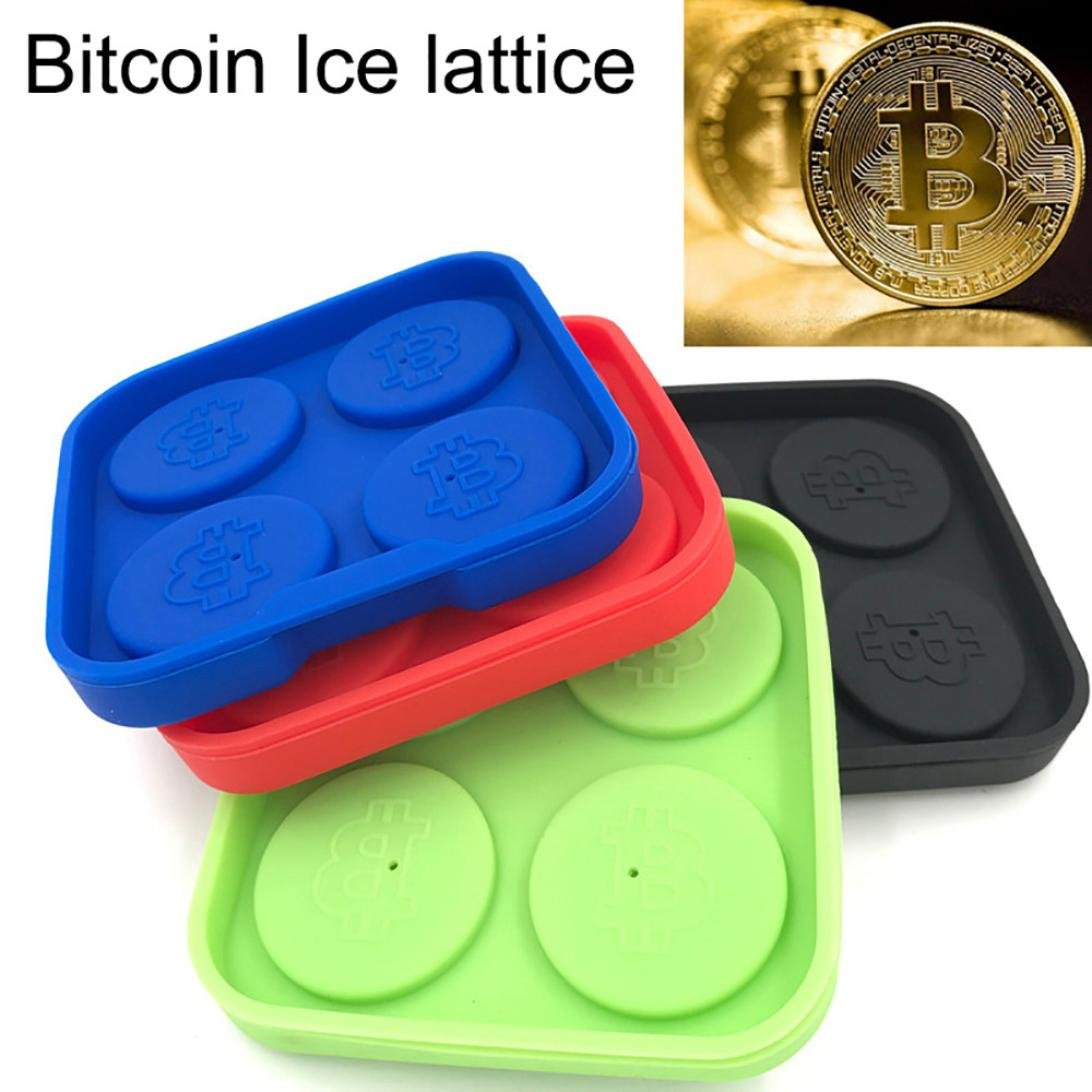 Wensltd Clearance! Bitcoin Ice lattice Freeze Mold Bar Pudding Jelly Chocolate Maker Mold Ice Cube