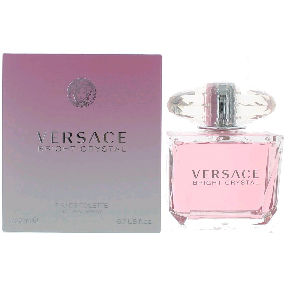 Versace Bright Crystal Eau de Toilette Spray for Women, 6.7 Ounce