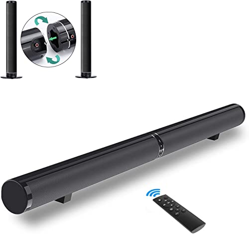 Sound Bar for TV – PON 50W 40inch Bluetooth 4.2 Speakers, Surround Soundbar 2.0 Channel Wired and Wireless Home Theater, Support HDMI Arc, Optical, RCA, 3.5mm Aux, USB and Subwoofer Input