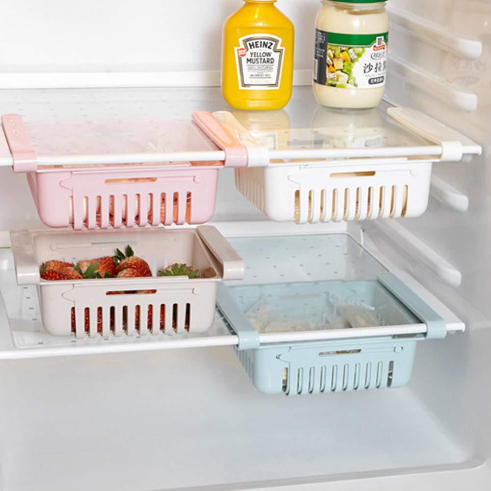 Bclaer72 Azul Tama/ño Libre el/ástica, para Ahorrar Espacio, para frigor/íficos, Verduras, Frutas, para el hogar Cesta de almacenaje