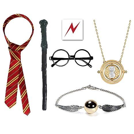 EUYUAN - 10 Disfraces de Harry Potter, con Varita de Mago, Tatuaje ...