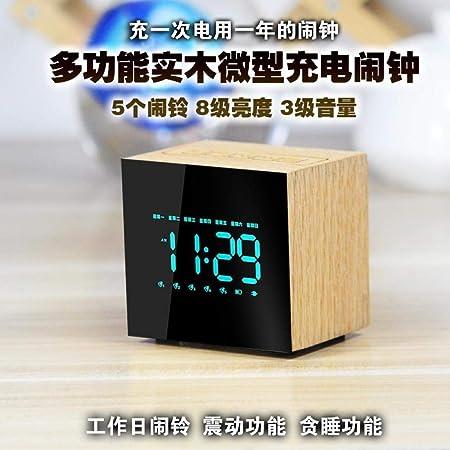 Despertadores Despertador Led Mesita De Noche Silencioso Reloj ...
