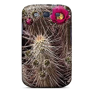 Galaxy Cover Case - Beautiful Flowering Hedgehog Cactus Protective Case Compatibel With Galaxy S3