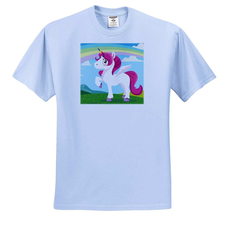 T-Shirts Cute Unicorn on a Meadow Funny Illustration 3dRose Sven Herkenrath Unicorn